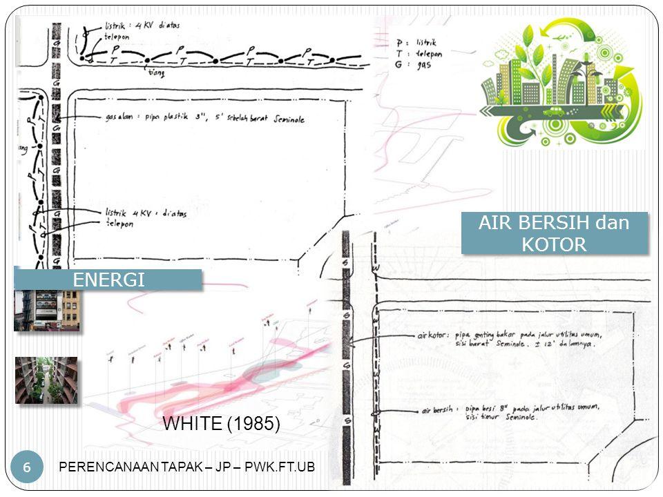 PERENCANAAN TAPAK – JP – PWK.FT.UB 6 ENERGI AIR BERSIH dan KOTOR WHITE (1985)