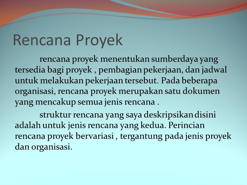 Manajer proyek merevisi asumsi-asumsi proyek dengan bertambah banyaknya informasi yang masuk.
