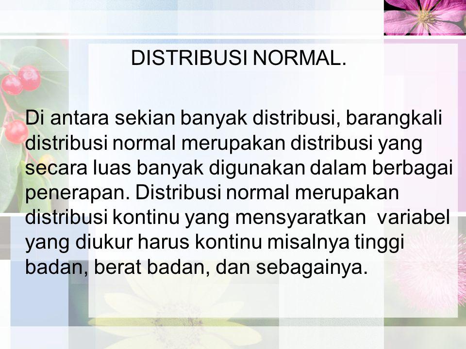 DISTRIBUSI NORMAL.