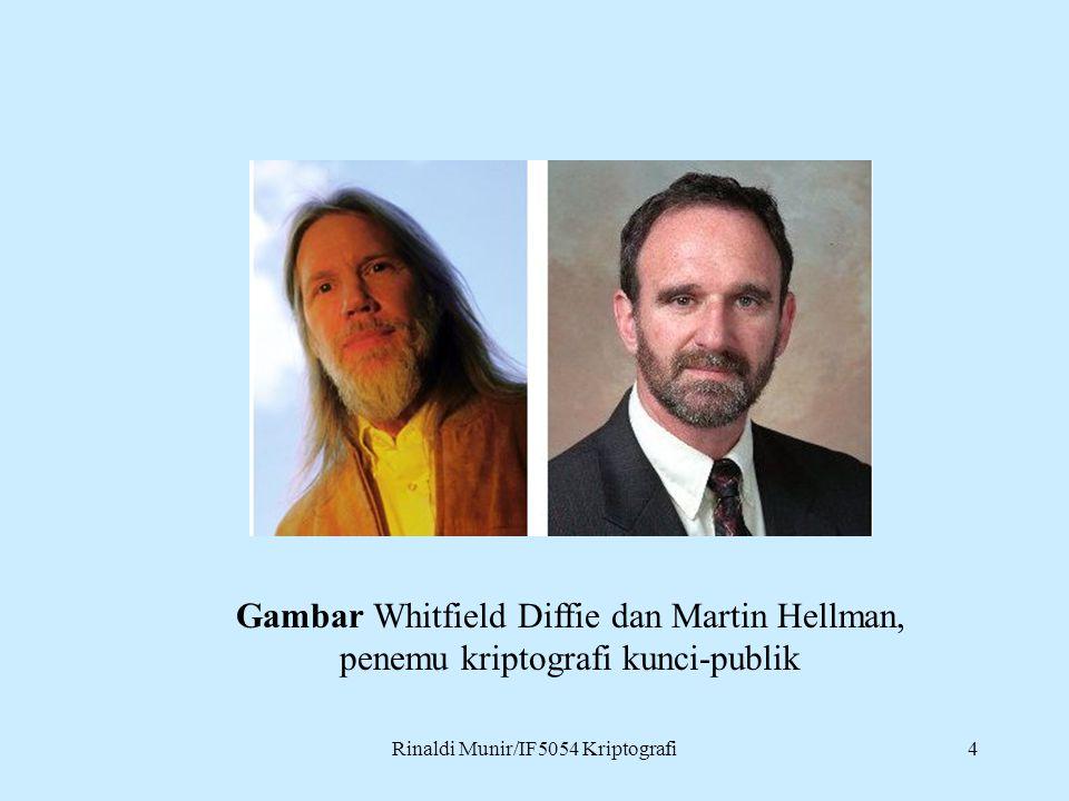 Rinaldi Munir/IF5054 Kriptografi4 Gambar Whitfield Diffie dan Martin Hellman, penemu kriptografi kunci-publik