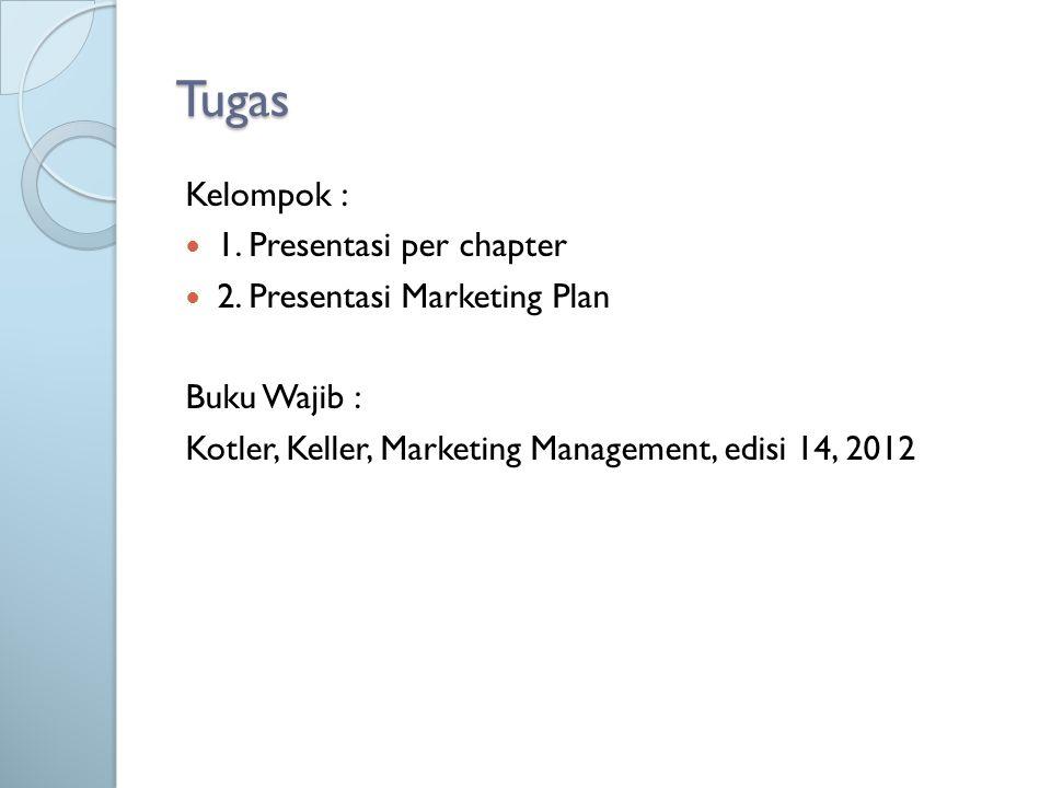 Tugas Kelompok : 1.Presentasi per chapter 2.