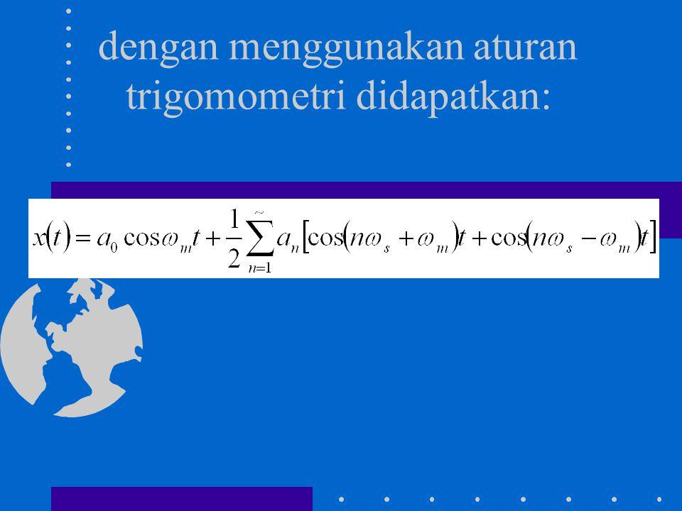dengan menggunakan aturan trigomometri didapatkan: