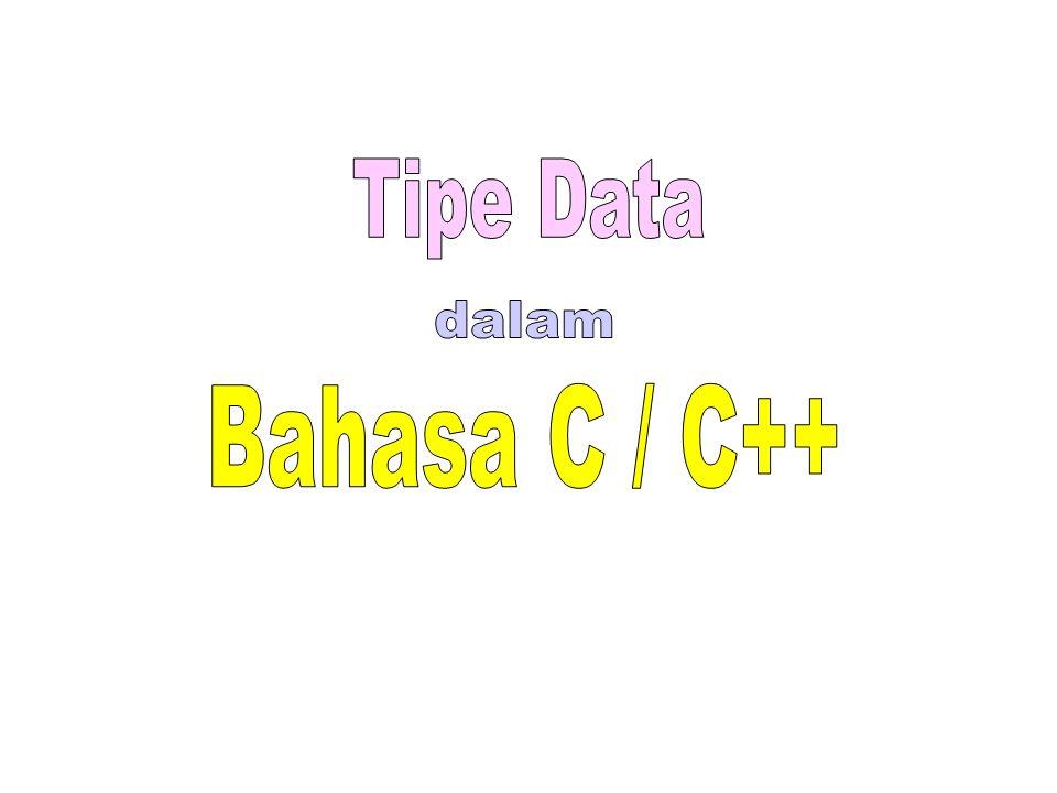 Tipe Data dalam Bahasa C / C++.