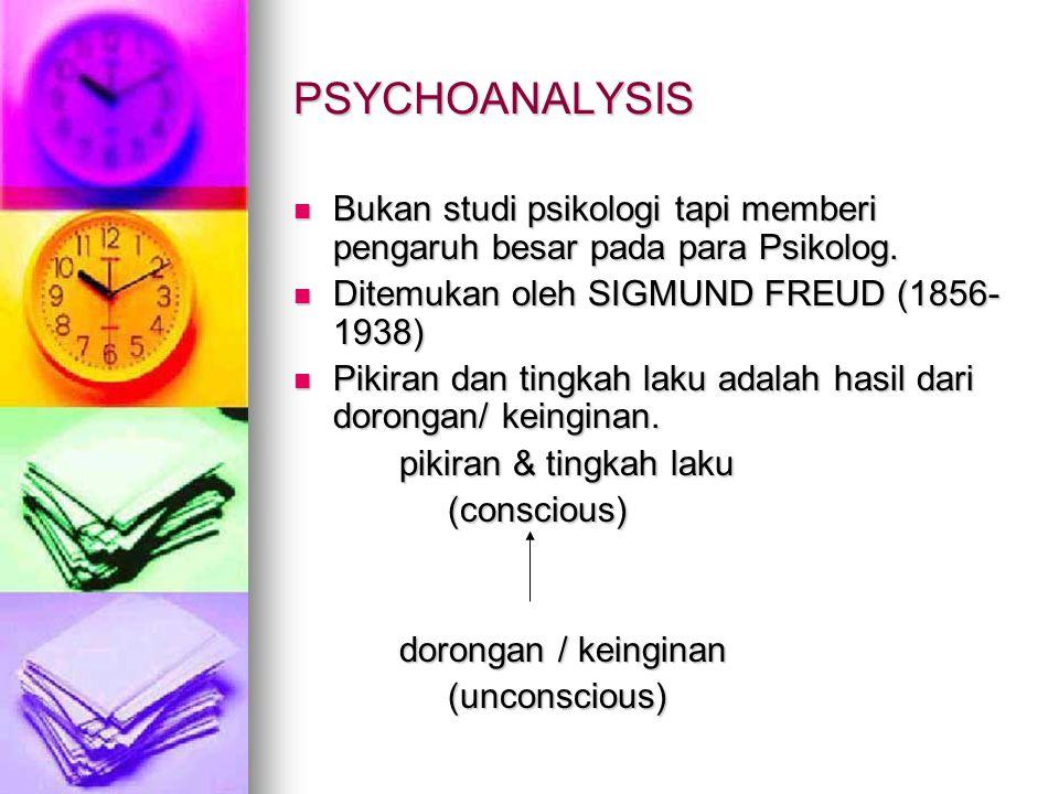 PSYCHOANALYSIS Bukan studi psikologi tapi memberi pengaruh besar pada para Psikolog. Bukan studi psikologi tapi memberi pengaruh besar pada para Psiko