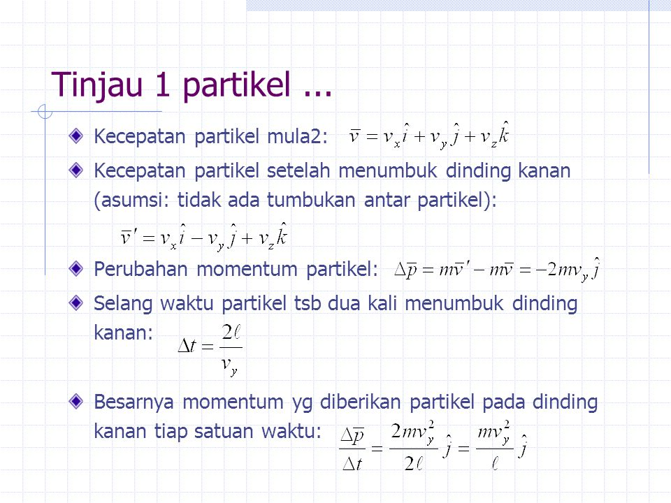 Bagaimana dengan N partikel .