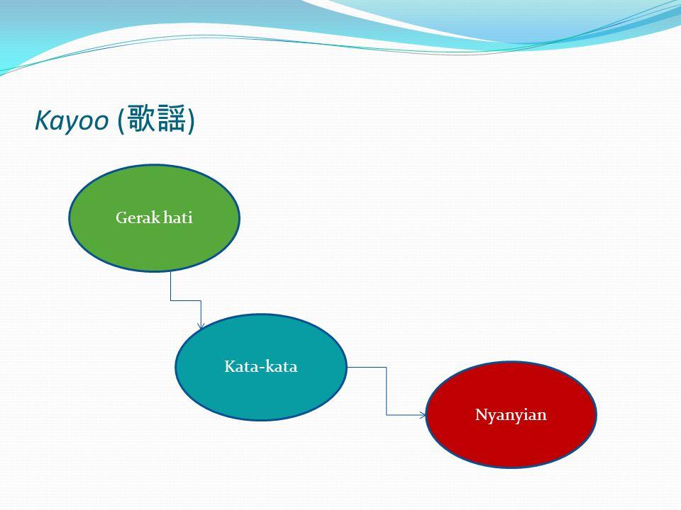 Kayoo ( 歌謡 ) Gerak hati Kata-kata Nyanyian