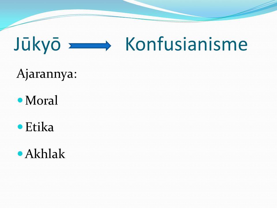 JūkyōKonfusianisme Ajarannya: Moral Etika Akhlak