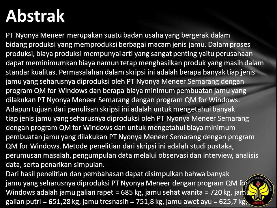 Kata Kunci Program linear, program QM for Windows