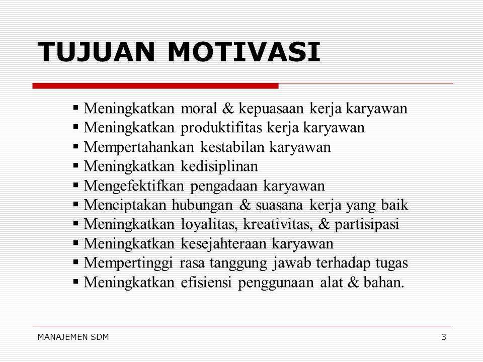 "MANAJEMEN SDM2 BEBERAPA KONSEP  KEGAIRAHAN KERJA ""kemauan dan kesenangan yang mendalam terhadap pekerjaan yang dilakukan""  MOTIF ""suatu perangsang k"