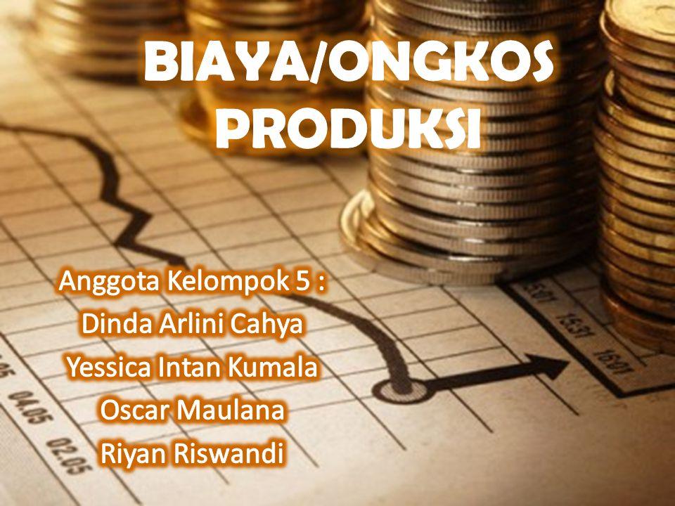 Biaya Rata-rata; Average Fixed Cost, AFC = TFC/Q Average Variabel Cost, AVC = TVC/Q Average Cost, Biaya Marjinal (Marginal Cost); MC = ∆TC/ ∆Q