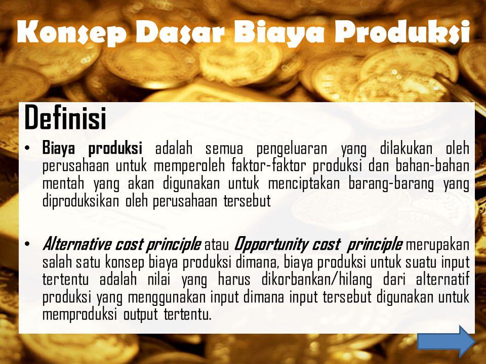 1.Biaya eksplisit adalah pengeluaran perusahaan yang berupa pembayaran dengan uang untuk mendapatkan faktor produksi dan bahan mentah yang dibutuhkan perusahaan atau dapat juga diartikan sebagai pengeluaran aktual (secara akuntansi) perusahaan untuk penggunaan sumber daya dalam proses produksi.