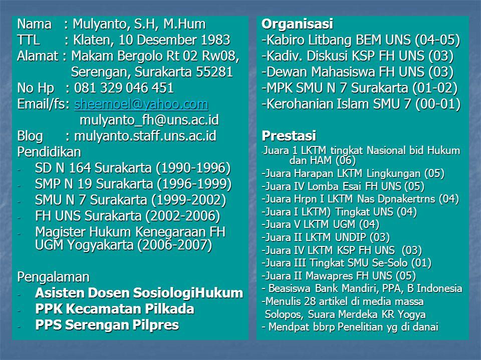 sosial politikekonomibudayapendidikanagama hukum SISTEM SOSIAL