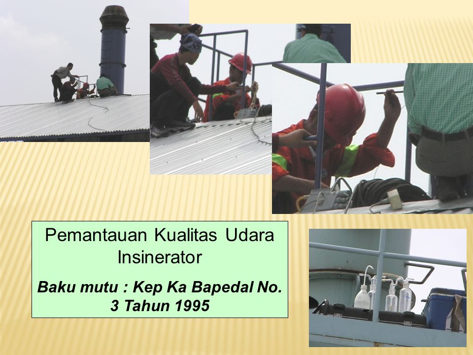 Pemantauan Kualitas Udara Insinerator Baku mutu : Kep Ka Bapedal No. 3 Tahun 1995