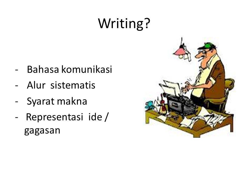 Quantum Writing 1.Memperluas pengetahuan/ wawasan 2.Membangkitkan daya imajinasi 4.Mengaktifkan daya ingat 5.Menata pikiran 6.Mengatasi tekanan (refreshing)