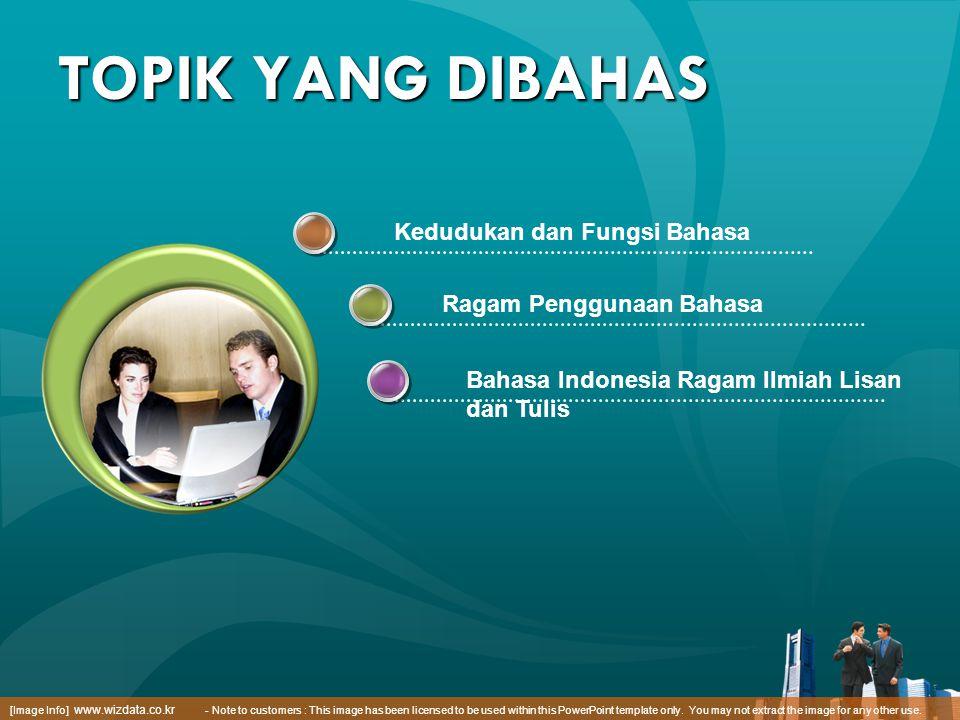 Kedudukan dan Fungsi Bahasa Ragam Penggunaan Bahasa Bahasa Indonesia Ragam Ilmiah Lisan dan Tulis [Image Info] www.wizdata.co.kr - Note to customers :