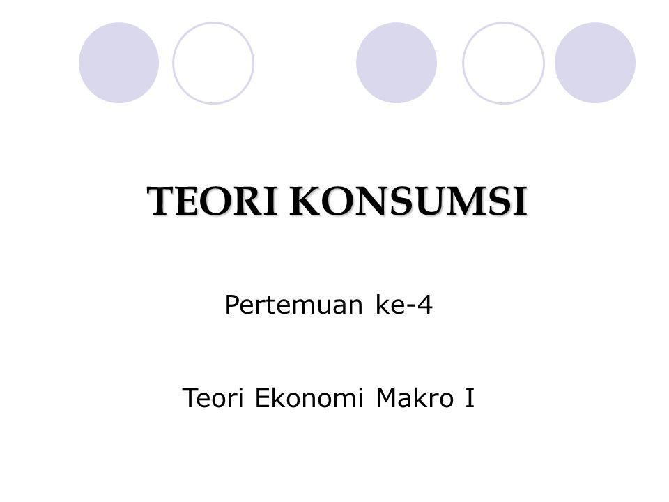 Pertemuan ke-4 Teori Ekonomi Makro I TEORI KONSUMSI