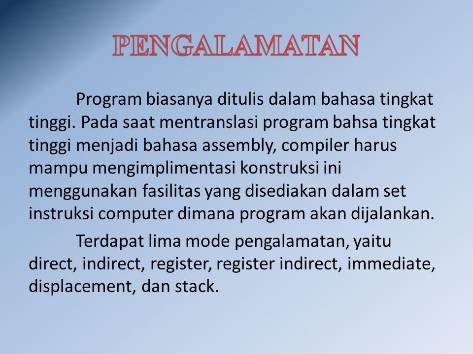 Program biasanya ditulis dalam bahasa tingkat tinggi.