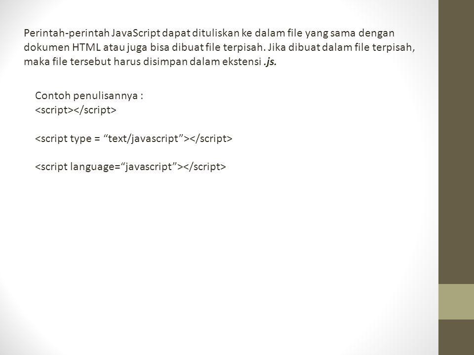 Latihan javascript document.write( Latihan java script );