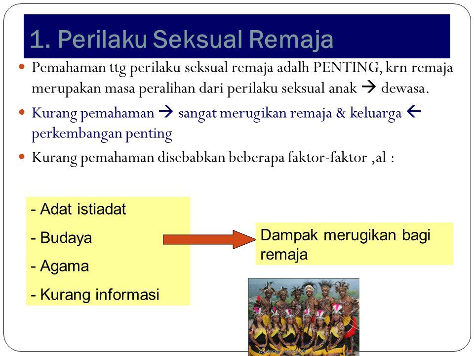 1. Perilaku Seksual Remaja 22 Pemahaman ttg perilaku seksual remaja adalh PENTING, krn remaja merupakan masa peralihan dari perilaku seksual anak  de