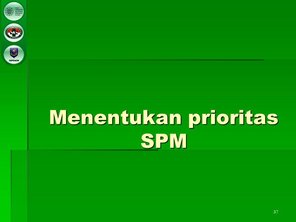 37 Menentukan prioritas SPM