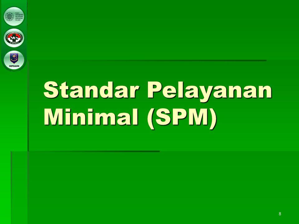 8 Standar Pelayanan Minimal (SPM)