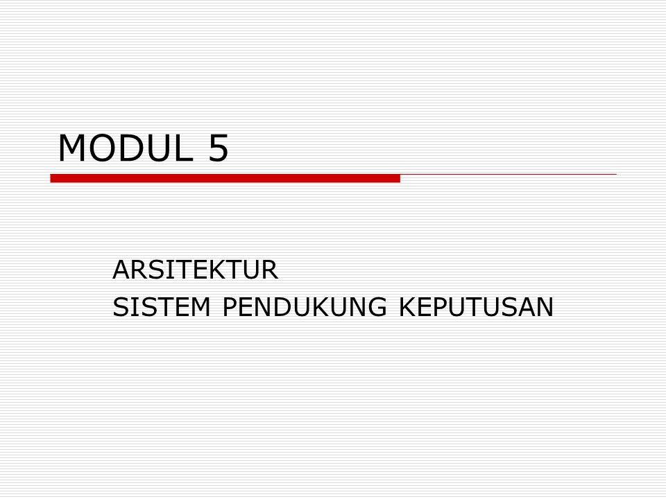 MODUL 5 ARSITEKTUR SISTEM PENDUKUNG KEPUTUSAN