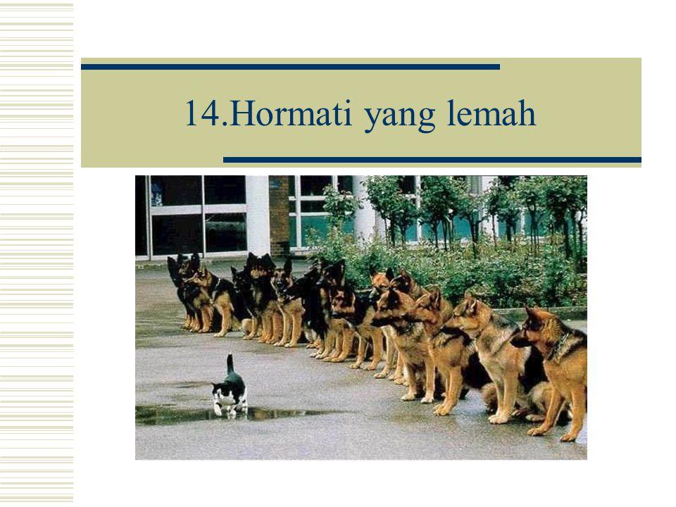 14.Hormati yang lemah