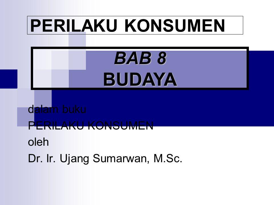 PERILAKU KONSUMEN BAB 8 BUDAYA dalam buku PERILAKU KONSUMEN oleh Dr. Ir. Ujang Sumarwan, M.Sc.