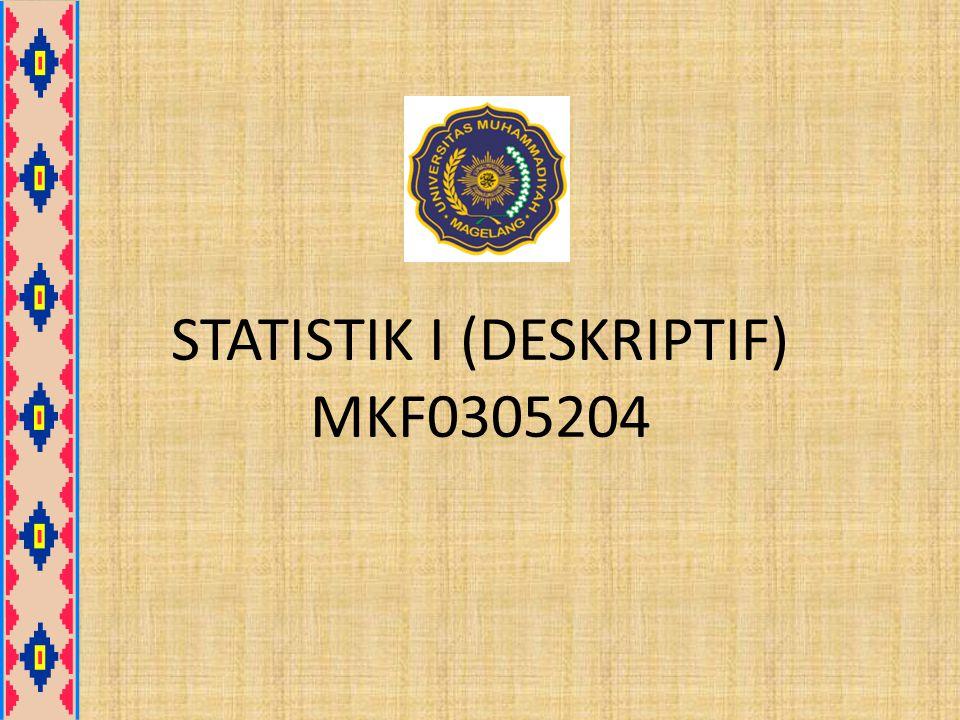 STATISTIK I (DESKRIPTIF) MKF0305204