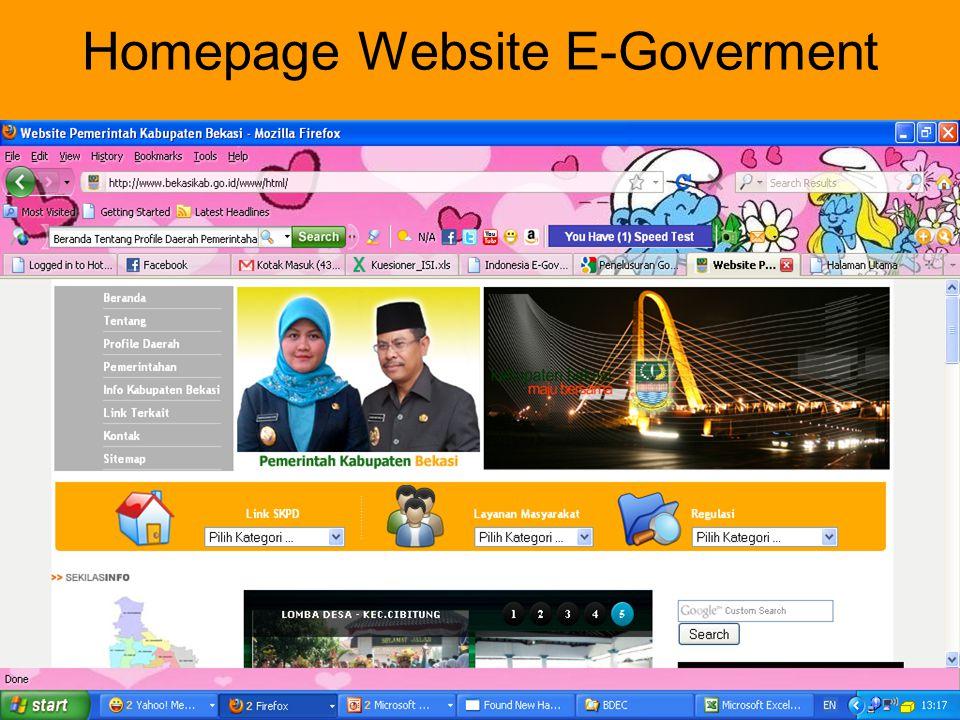 Homepage Website E-Goverment