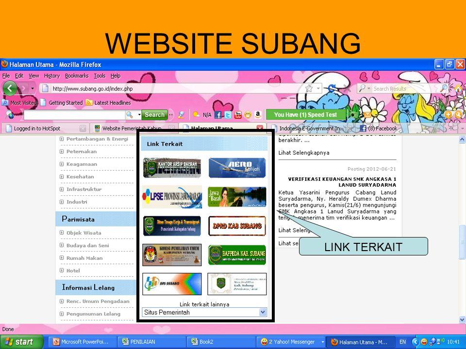 WEBSITE SUBANG LINK TERKAIT VISI MISI LAYANAN