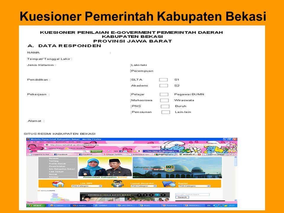 Kuesioner Pemerintah Kabupaten Bekasi