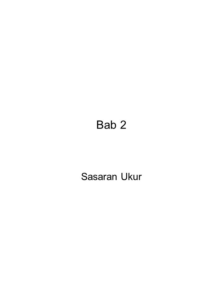 Bab 2 Sasaran Ukur
