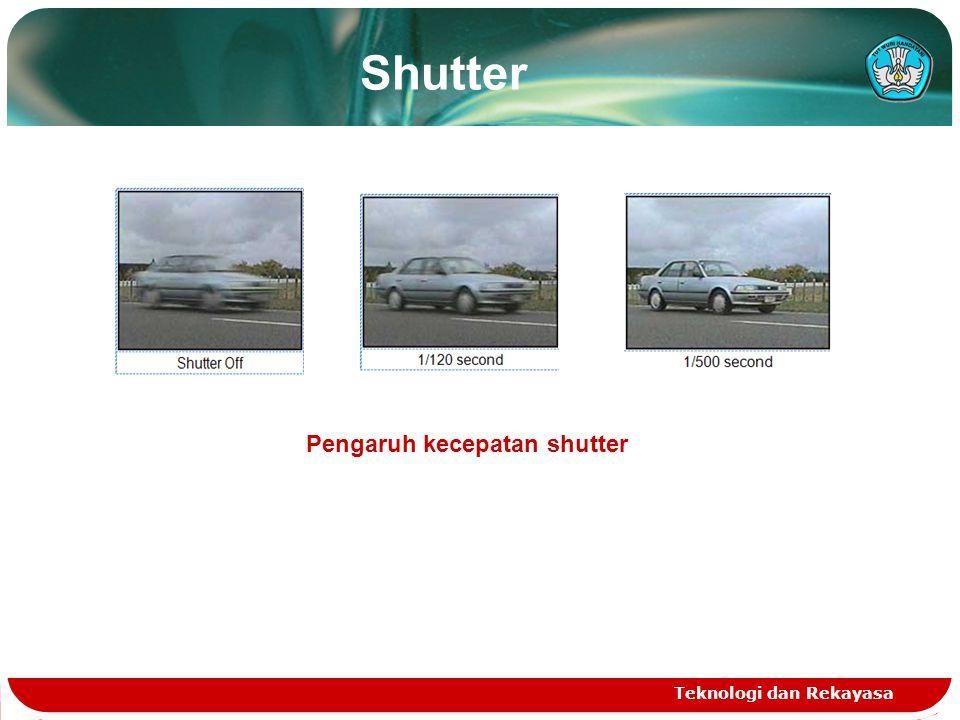 Shutter Teknologi dan Rekayasa Pengaruh kecepatan shutter