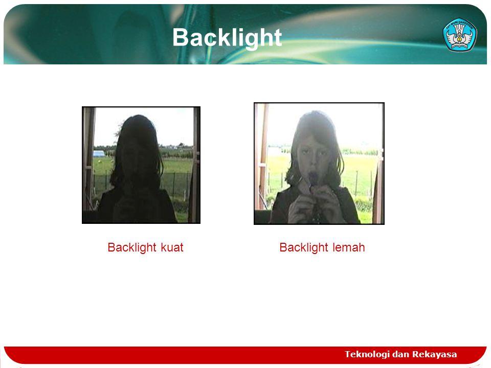 Backlight Teknologi dan Rekayasa Backlight kuatBacklight lemah