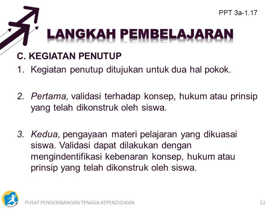 PUSAT PENGEMBANGAN TENAGA KEPENDIDIKAN21 B.