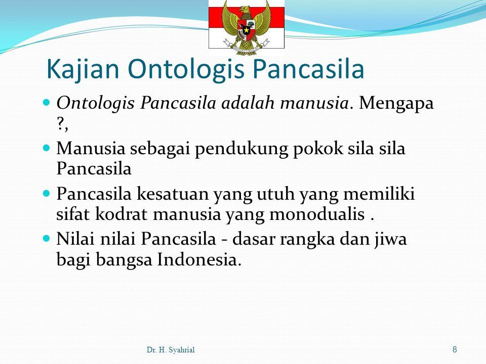 Ontologis Pancasila adalah manusia.
