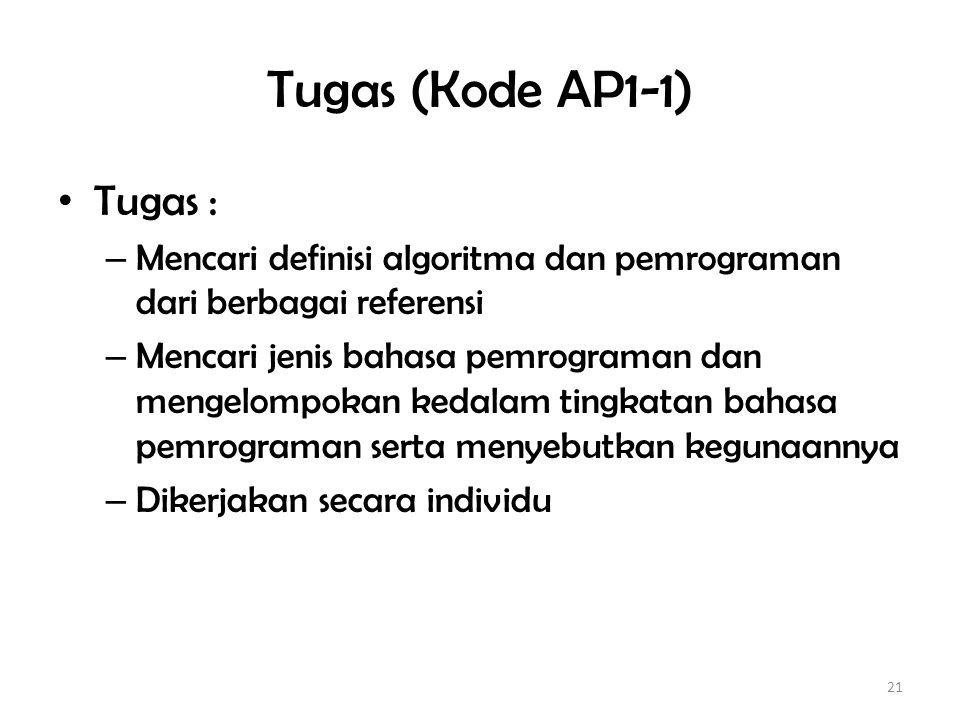 Bahasa Pemrograman dan Tingkatan 1.