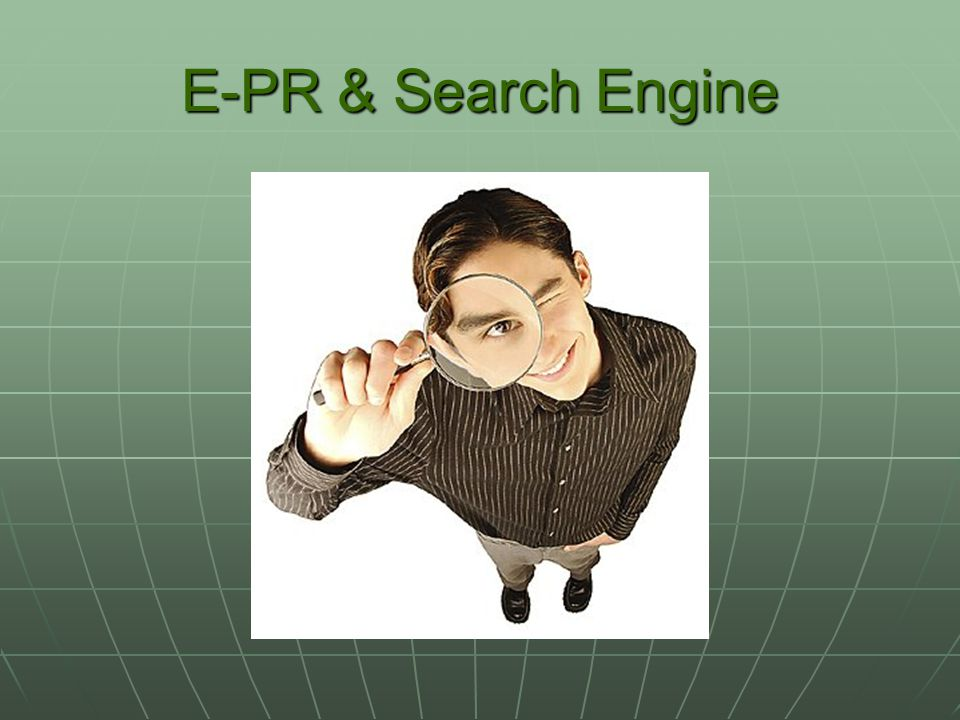 E-PR & Search Engine