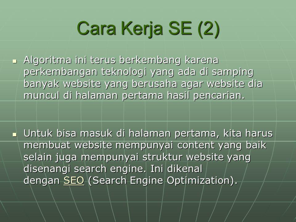 Fungsi SE Bagi E-PR Sebagai direktori bisnis online.