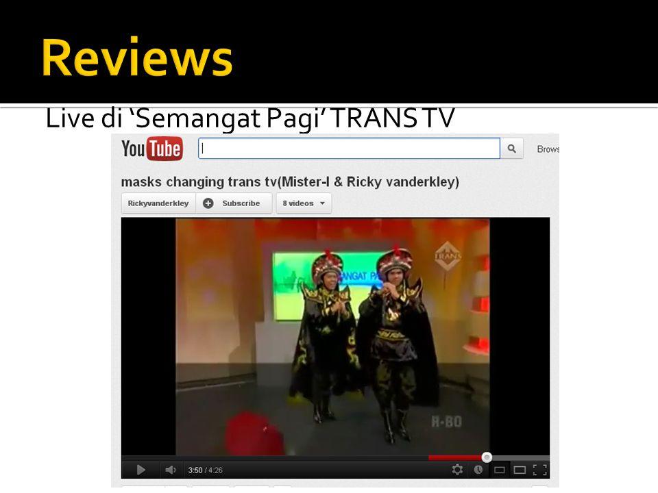 Live di 'Semangat Pagi' TRANS TV