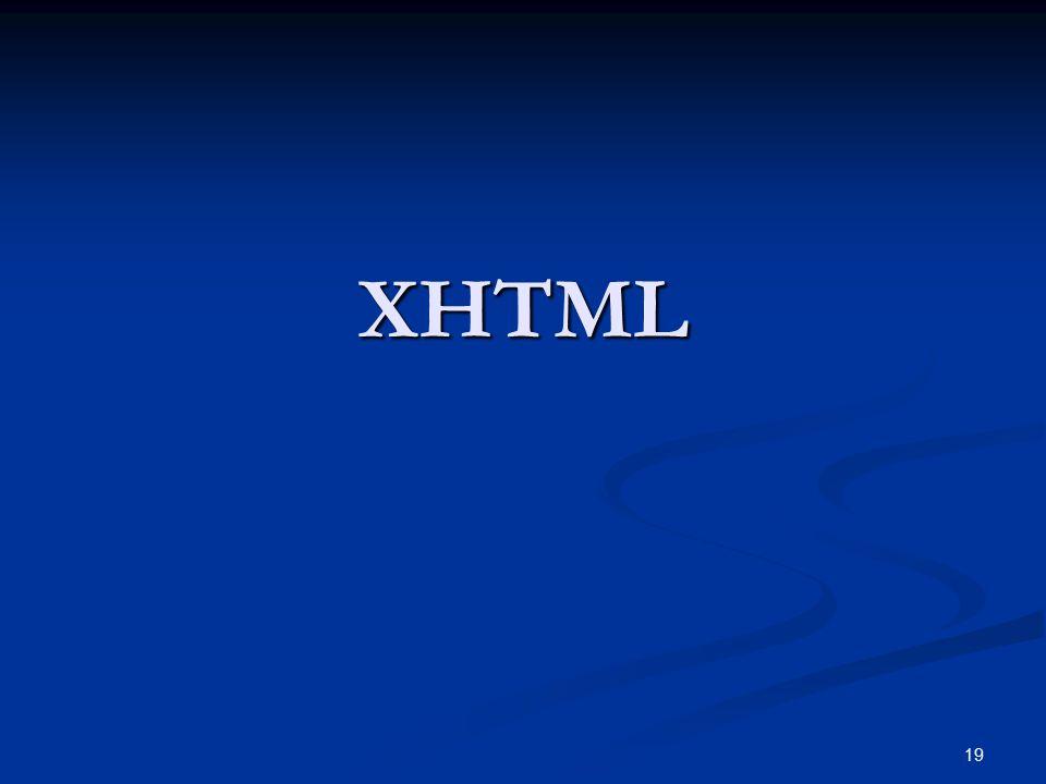 19 XHTML