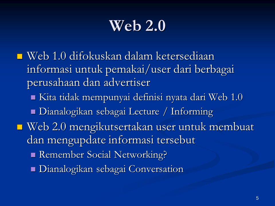 16 AJAX Keuntungan: Keuntungan: Bandwidth lebih kecil dalam bertukar data Bandwidth lebih kecil dalam bertukar data Lebih interaktif Lebih interaktif Kerugian: Kerugian: Pemrograman yang lebih kompleks Pemrograman yang lebih kompleks Web browser akan terasa lebih berat Web browser akan terasa lebih berat