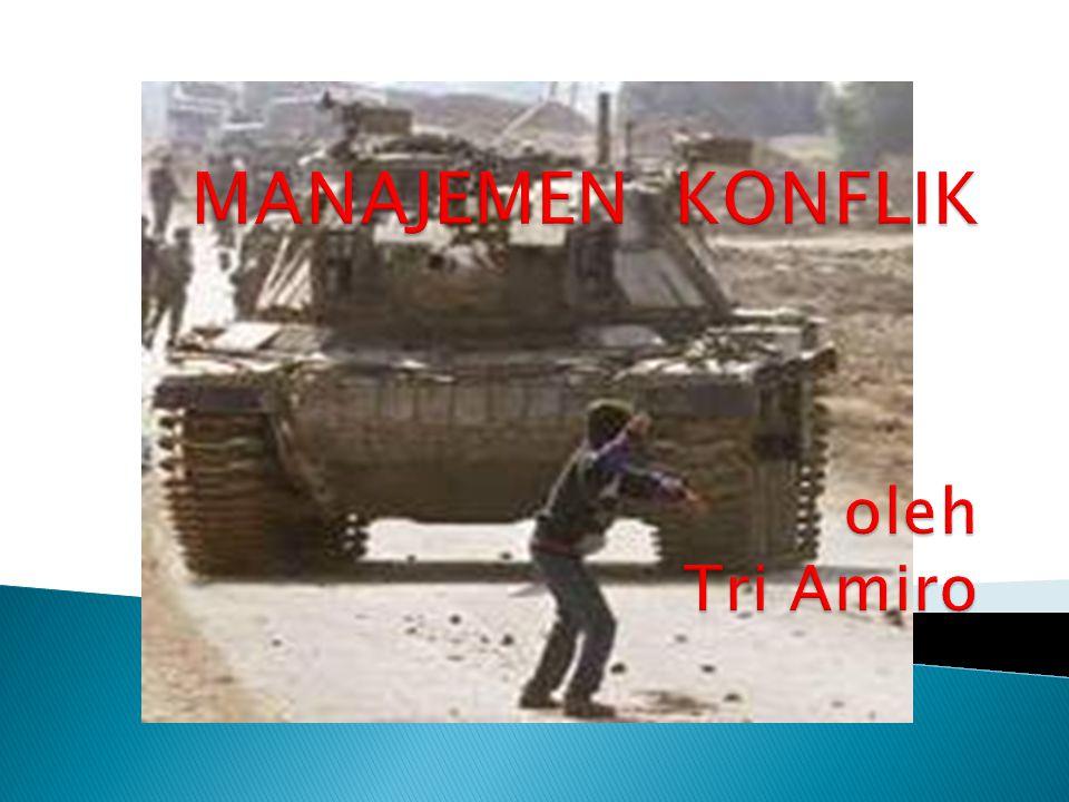 2.Konflik Interpersonal Terdiri dari : a. Konflik antarmanajer b.