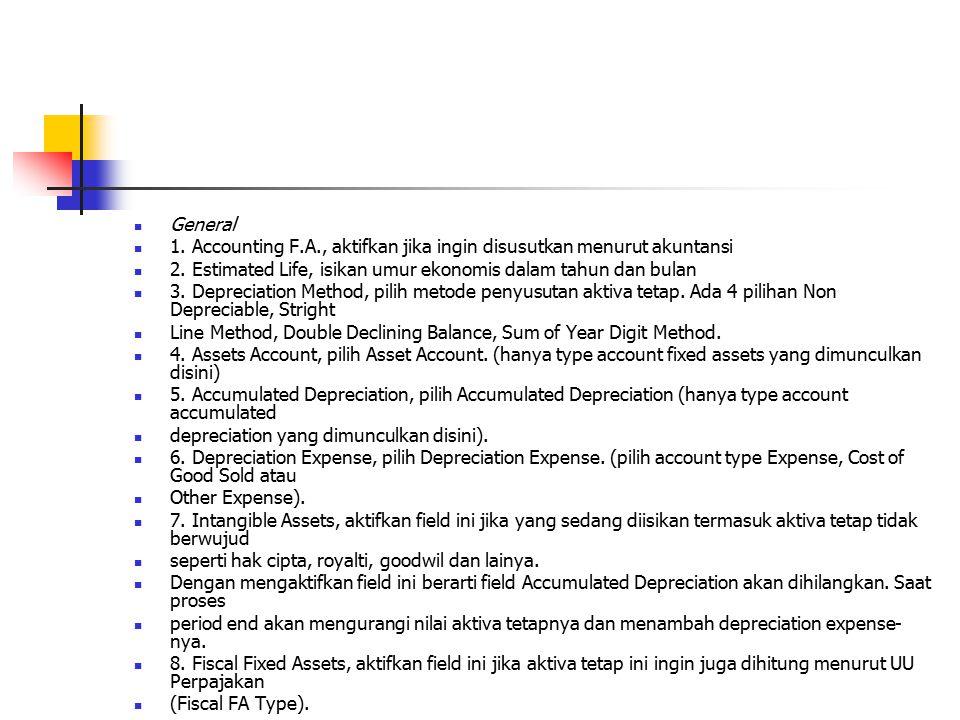 Expenditure 1.Account No, untuk saldo awal pilih account Opening Balance Equity.