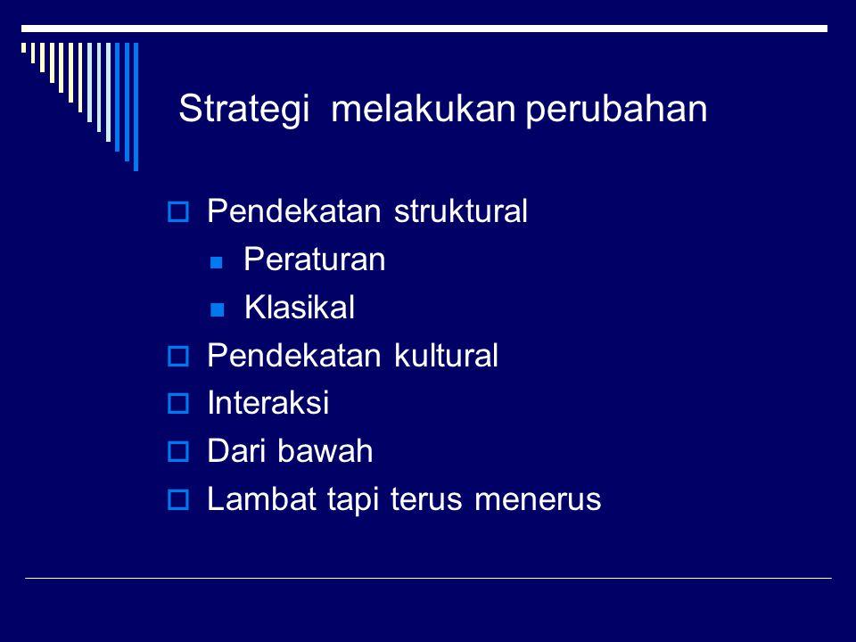 Kualitas kultur  Struktur : Rantai pengguna  Fokus : Layanan yang memuaskan  Komunikasi: kualitas komunikasi dua arah  Gaya: Penekanan pada kualitas utama  Responsip: Penekanan pada kepuasan pemakai internal dan eksternal.