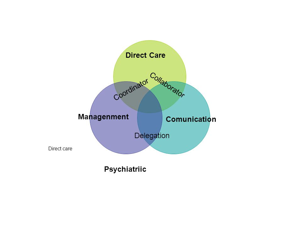 Comunication Coordinator Managenment Collaborator Delegation Direct Care Psychiatriic