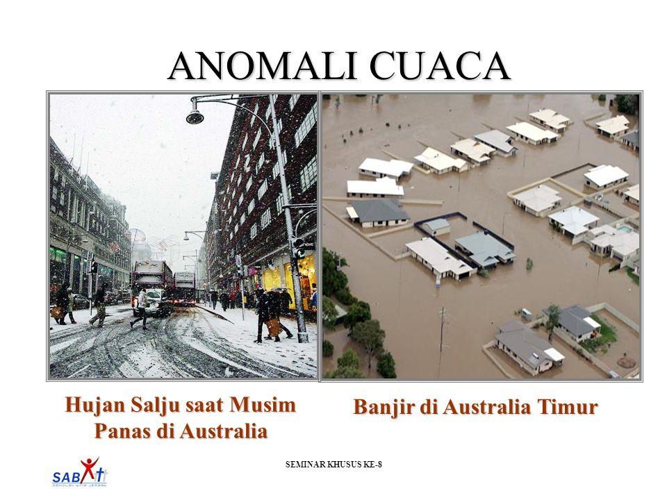 SEMINAR KHUSUS KE-8 ANOMALI CUACA Hujan Salju saat Musim Panas di Australia Banjir di Australia Timur