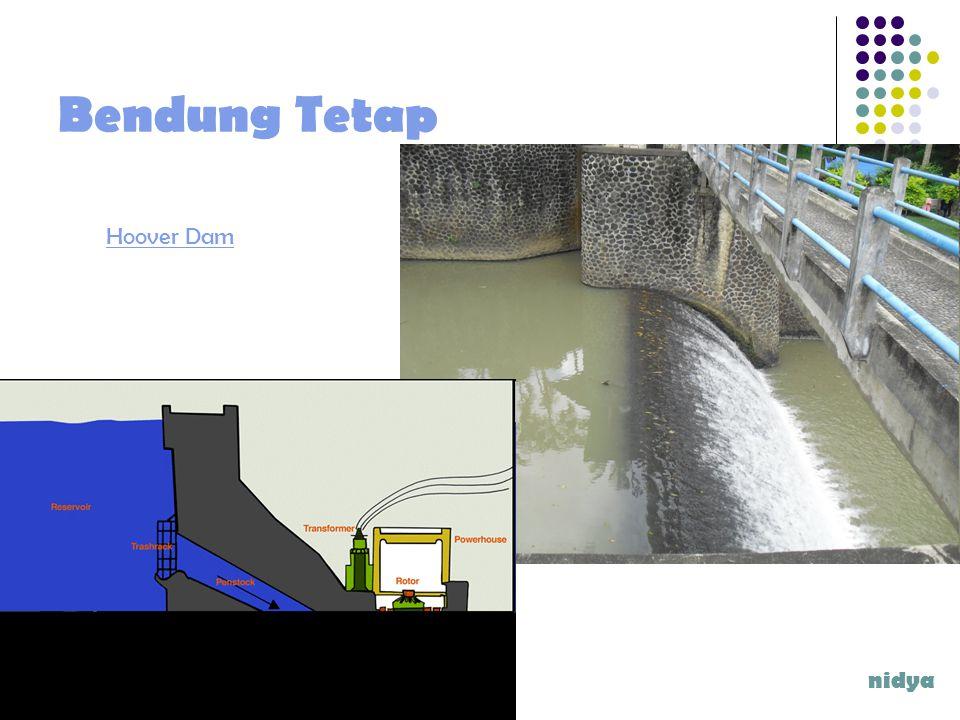 Bagian-bagian Bangunan Utama Bangunan Bendung Pengambilan Pembilas Kantong Lumpur Bangunan Perkuatan Sungai Bangunan pelengkap nidya