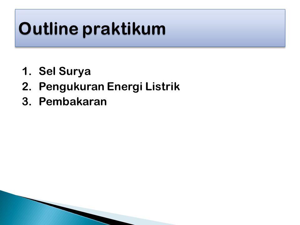 1.Sel Surya 2.Pengukuran Energi Listrik 3.Pembakaran